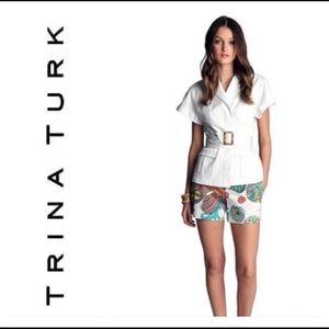 Trina Turk tropical shorts size 8